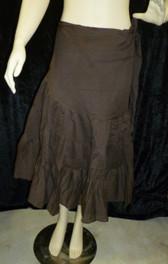 Beautiful Half Wrap Skirt Brown