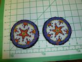 Identical Pair of Kuchi Medallions called Guls 2