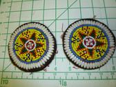Identical Pair of Kuchi Medallions called Guls 6