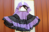 25 Yard Jaipur Skirt and Top Purple Black
