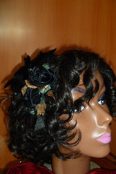 Beautiful Hair Fascinator Green Copper