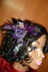 Beautiful Hair Fascinator Purple