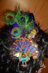 Beautiful Hair Fascinator Peacock 2