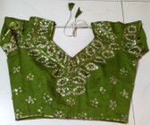 Gorgeous Green Tie Dye Sequened Choli  sz 34- 36
