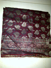 Beautiful Brocade Red & Silver Material For Your Choli