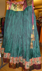 Gorgeous Green Crush Silk Skirt
