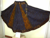 Gorgeous Crush fabric Skirt in copper and Platimum with beautiful danglies!