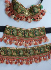 Beautiful Peacock Motif Bra Belt Set  #19