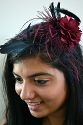 Flower Fascinators in a Variety of Colors