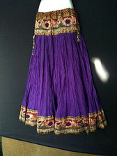 Beautiful Purple Crushed Silk Skirt