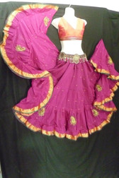Beautiful Embroidered Aishwarya Skirt Pink
