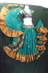 Beautiful Embroidered Aishwarya Skirt Teal