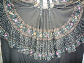 Beautiful Black Embroidered 25 Yard Skirt