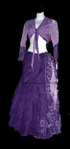 Jaipur Skirt Ensemble Multi hue Purple