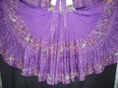 Beautiful Purple Embroidered 25 Yard Skirt