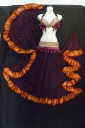 Exquisite Eggplant Aishwarya Skirt