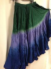Dip Dye  25-Yard Pure Cotton Skirts - Rain Forest