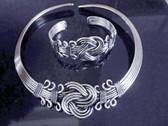Silver choker and bracelet set