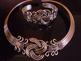 Choker and Bracelet set in copper