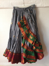 Embroidered Aishwarya Skirt Gray