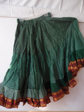 Striped Aishwarya Skirt Green