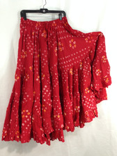 25 Yd JAIPUR SKIRT ATS Red and Gold