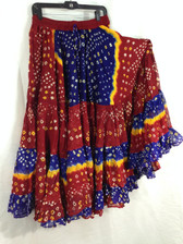 25 Yd JAIPUR SKIRT ATS Red Blue and Yellow