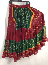 25 Yd JAIPUR SKIRT ATS Red Green and Yellow