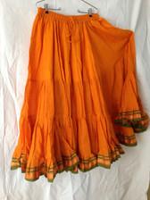 Aishwarya Brilliant Saffron Skirt