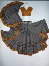 Striped Aishwarya Skirt Gorgeous Grey