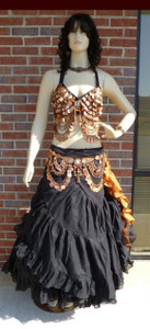 Gorgeous Black and Copper Ensemble