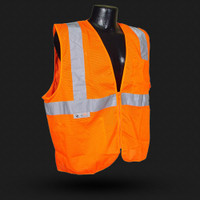 SV25  CLASS 2 FIRE RETARDANT WITH ZIPPER Orange 24ct Case