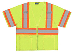 Class 3 Safety Vest  Two Tone W/Mic Tabs