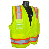 SV62-2ZGT Class 2 Surveyor Heavy Duty Solid Twill Safety Vest