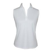 Ladies Sleeveless Golf Shirt in White