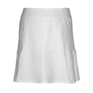 Ladies Golf Skort in White with Multi Pleats