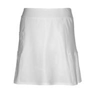Ladies Golf Skort in White with Multi Pleats