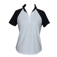 Golf Shirt in White & Black