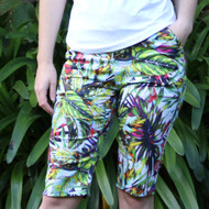 Ladies Golf Shorts in Tropical Print
