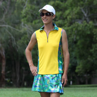 Women's Golf Outfit in Green Bling