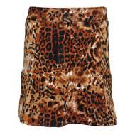 Ladies Golf Skort in Brown Leopard
