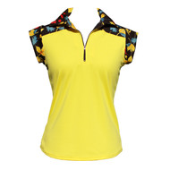 Ladies Golf Cap Sleeve Shirt in Autumn Foliage