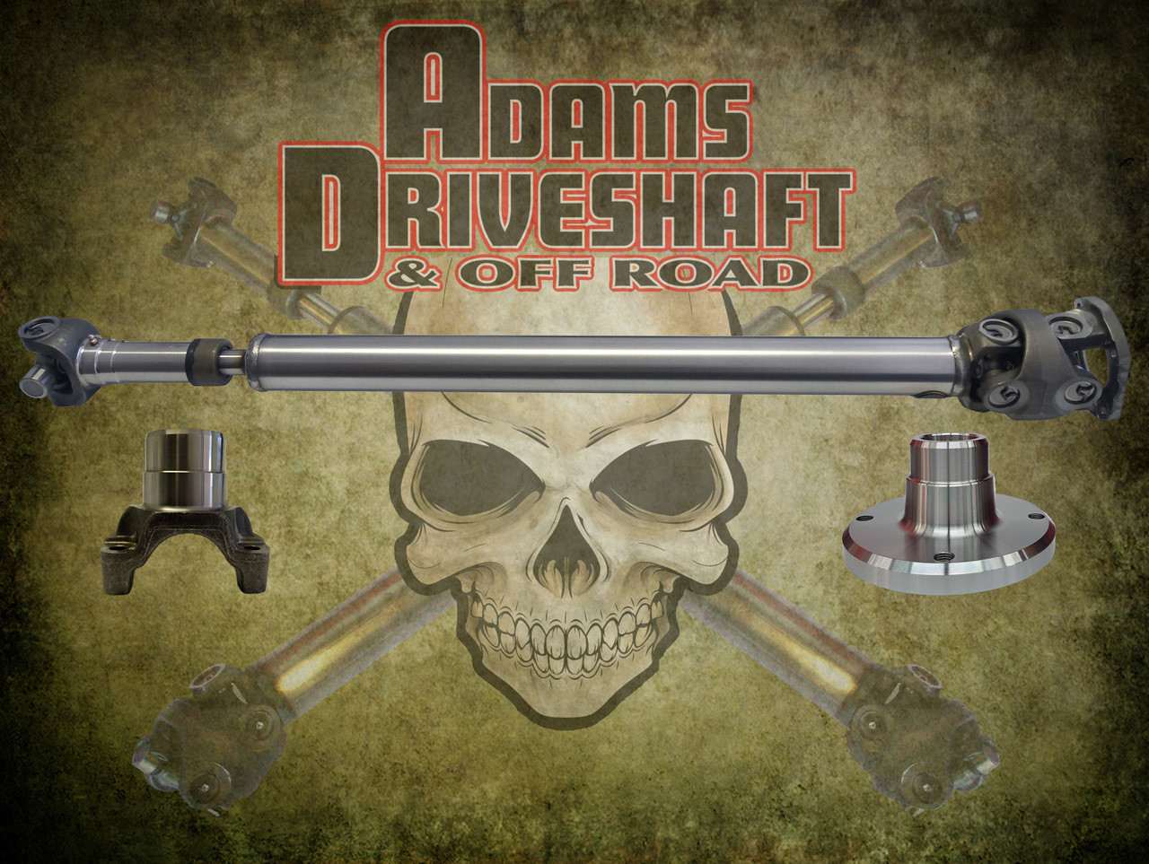 ADAMS DRIVESHAFT JL RUBICON REAR 1350 CV DRIVESHAFT SOLID U-joints [EXTREME  DUTY SERIES]