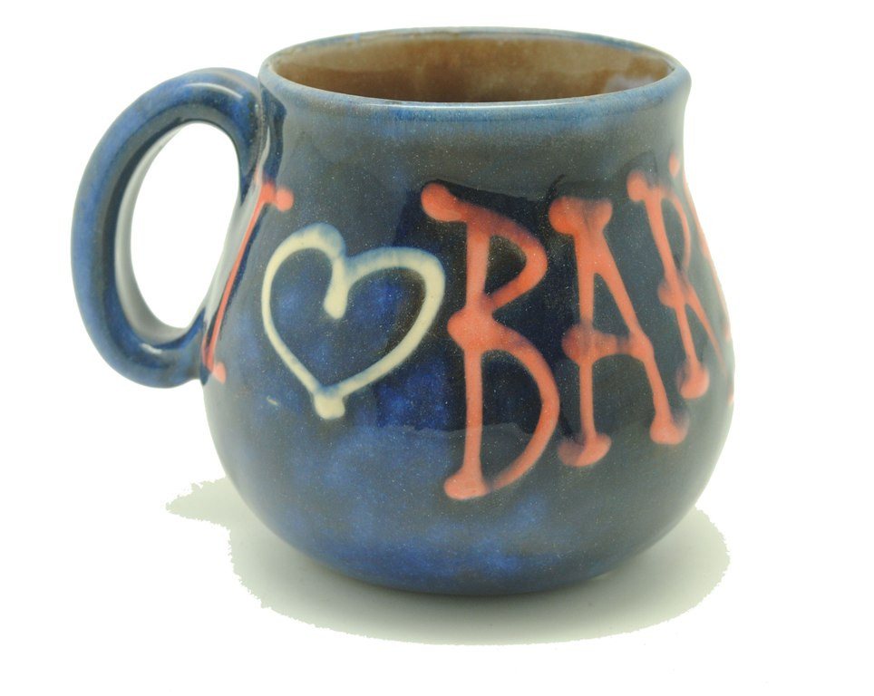 Coffee Mug Blue With I Love You Barbados Best Of Barbados Gift Shops