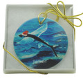 Christmas Deco Santa Flying Fish