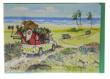Santa on a safari in Barbados!