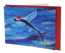 Santa flyingfish card from Barbados.