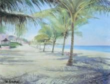 A Jill walker print of Dover Beach in Barbados