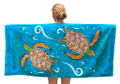 Barbados beach towel with turtles.