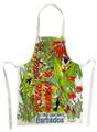 Hand screen printed garden apron.